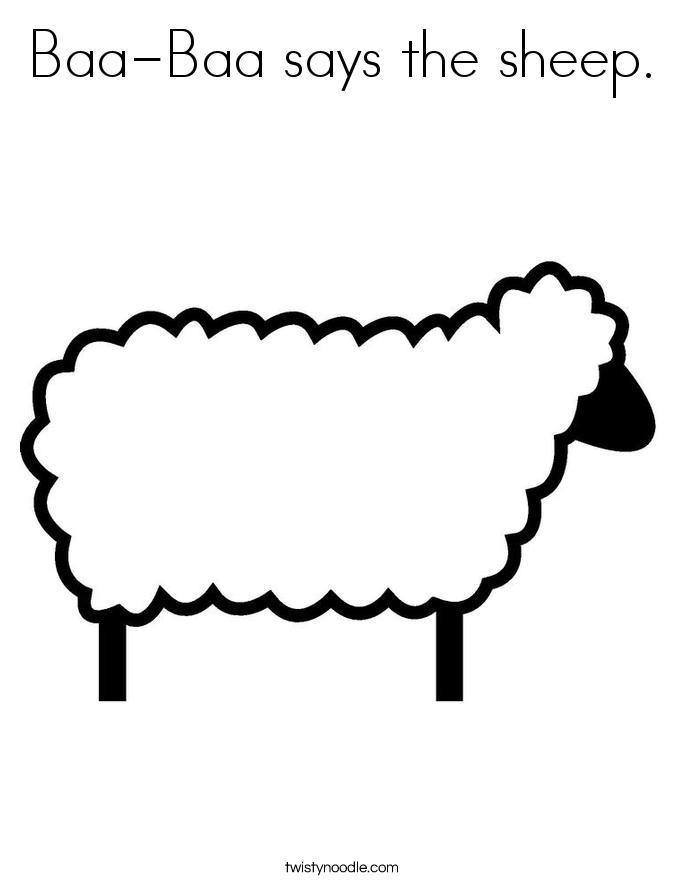 sheep Coloring Pages | Baa Baa Black Sheep Coloring Page | nursery ...