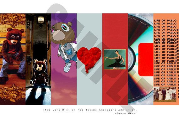 Custom Kanye West Album Cover Art Poster Hypebeast Posters Poster Art Album Cover Art Poster Prints