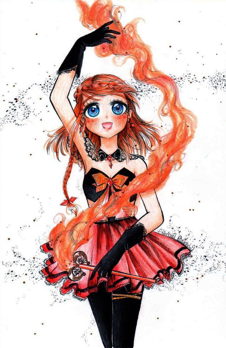 30day magical girl drawing challenge: FIRE by