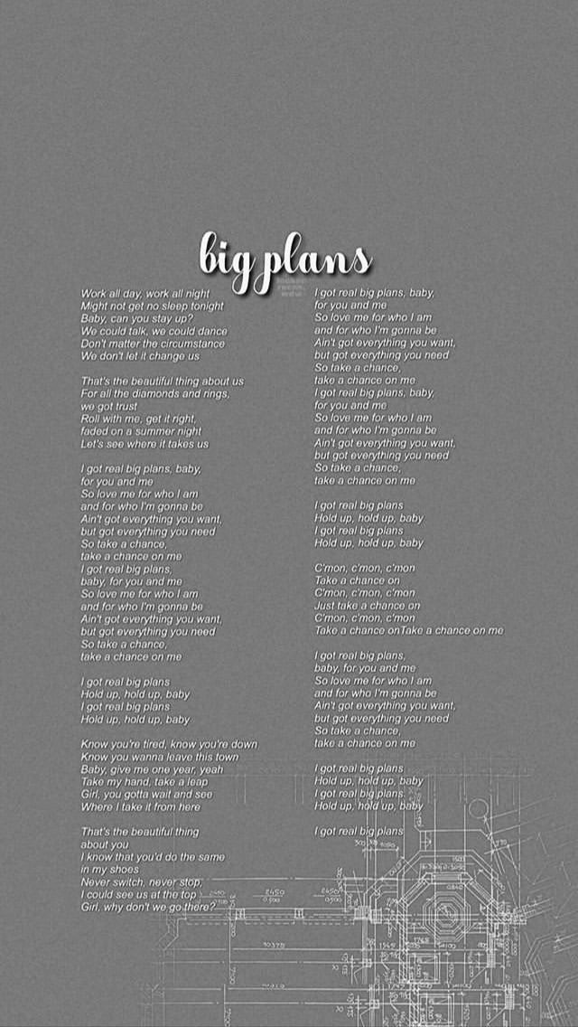 Big plans wdw why don't we wallpaper Wallpaper quotes