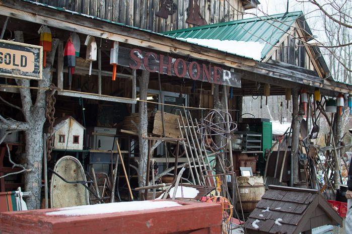 The rustic side of Maine - Renuko Style - iconic junkyard- Elmer`s Barn in Coopers Mills #MAINE