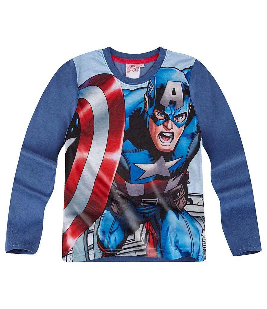 Marvel The Avengers Assemble Boys Long Sleeve Top TShirt