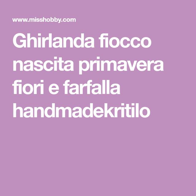Photo of Ghirlanda fiocco nascita primavera fiori e farfalla handmadekritilo