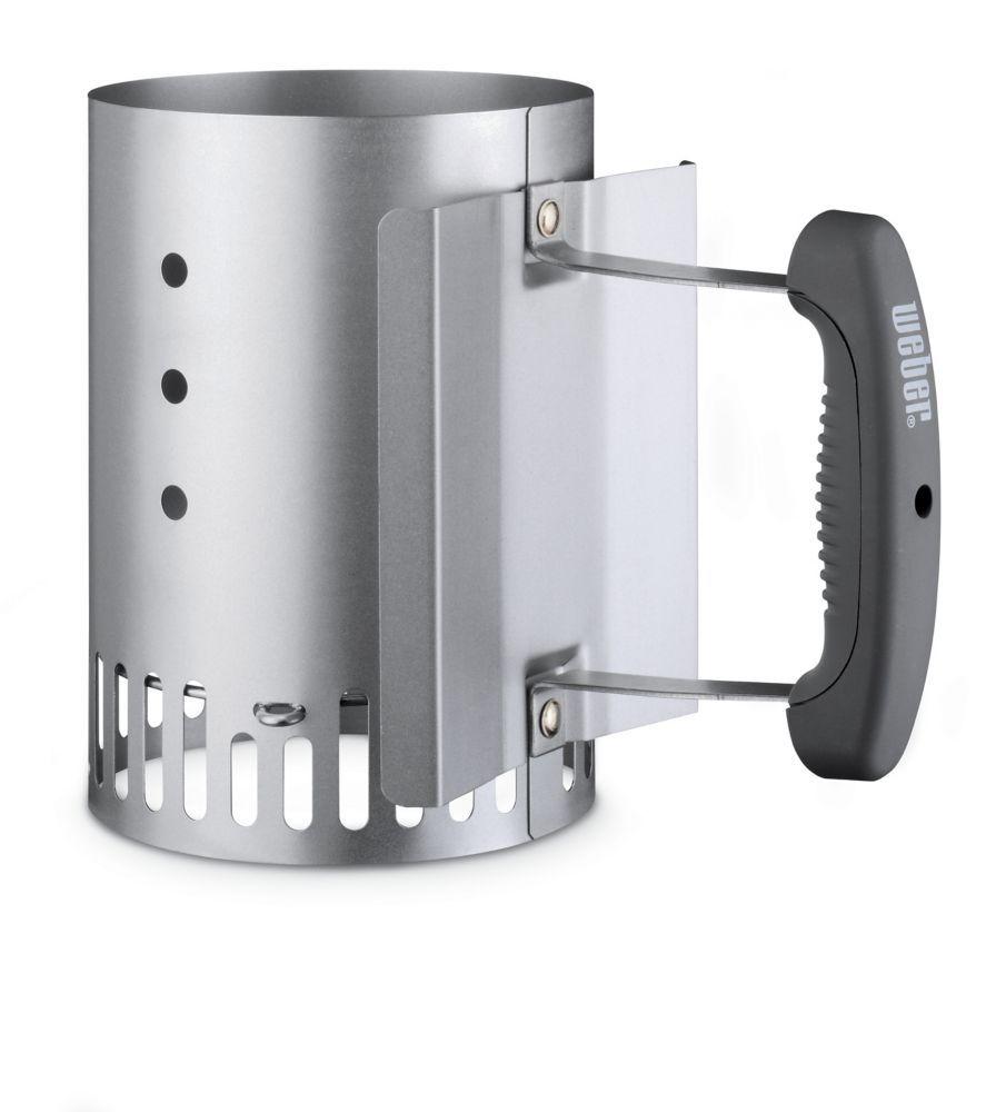 Compact rapidfire chimney starter bbq chimney