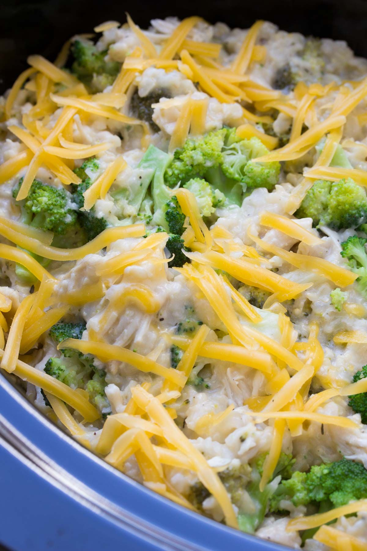 Best Ever Cheesy Slow Cooker Chicken Broccoli And Rice -8110