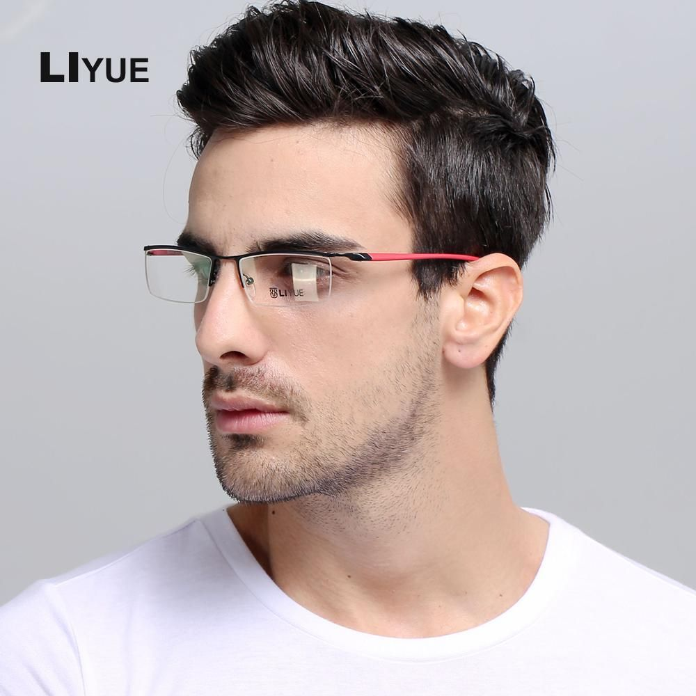 4f96000eb02 LIYUE High quality optics eyeglasses men s Prescription eyewear Frames 2017  New optical glasses Metal Frame clear lens glasses. Yesterday s price  US   17.00 ...