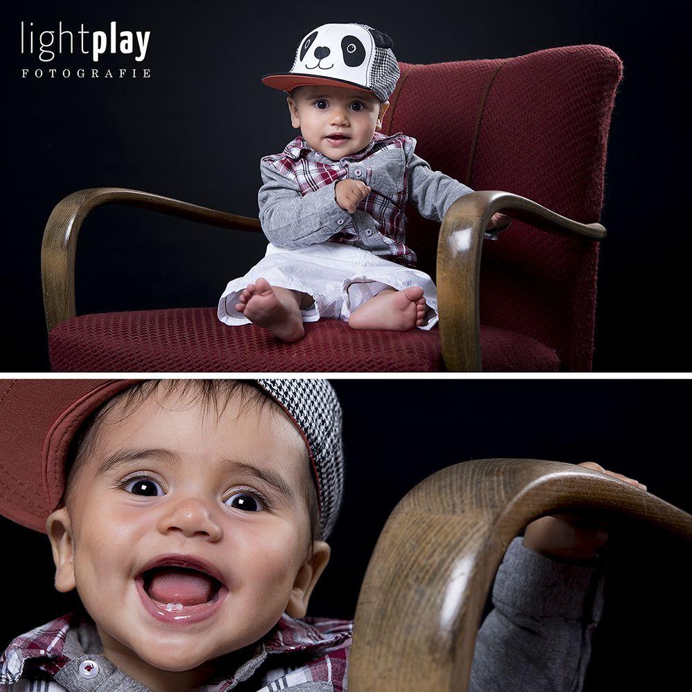 Kleiner frhlicher Panda beim Kinder Fotoshooting in St