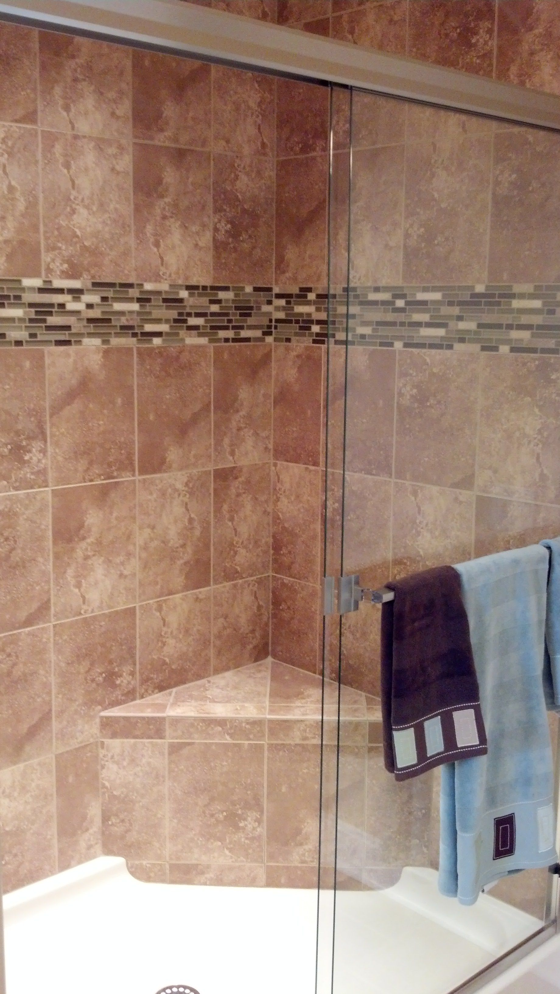 Tile Shower Seat With Acrylic Base With Images Bathroom Redo