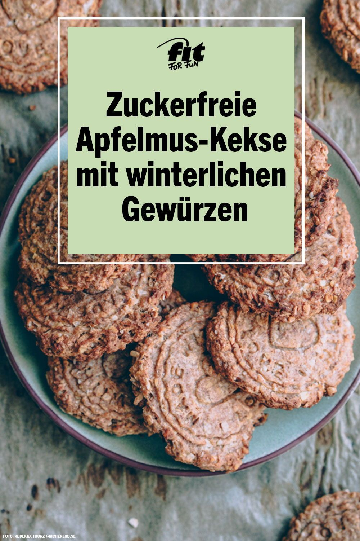 Rezept Zuckerfreie ApfelmusKekse mit winterlichen Gewürzen In der Weihnachtszeit backen die meisten von uns fleißig Kekse doch es müssen nicht immer Pl&au...