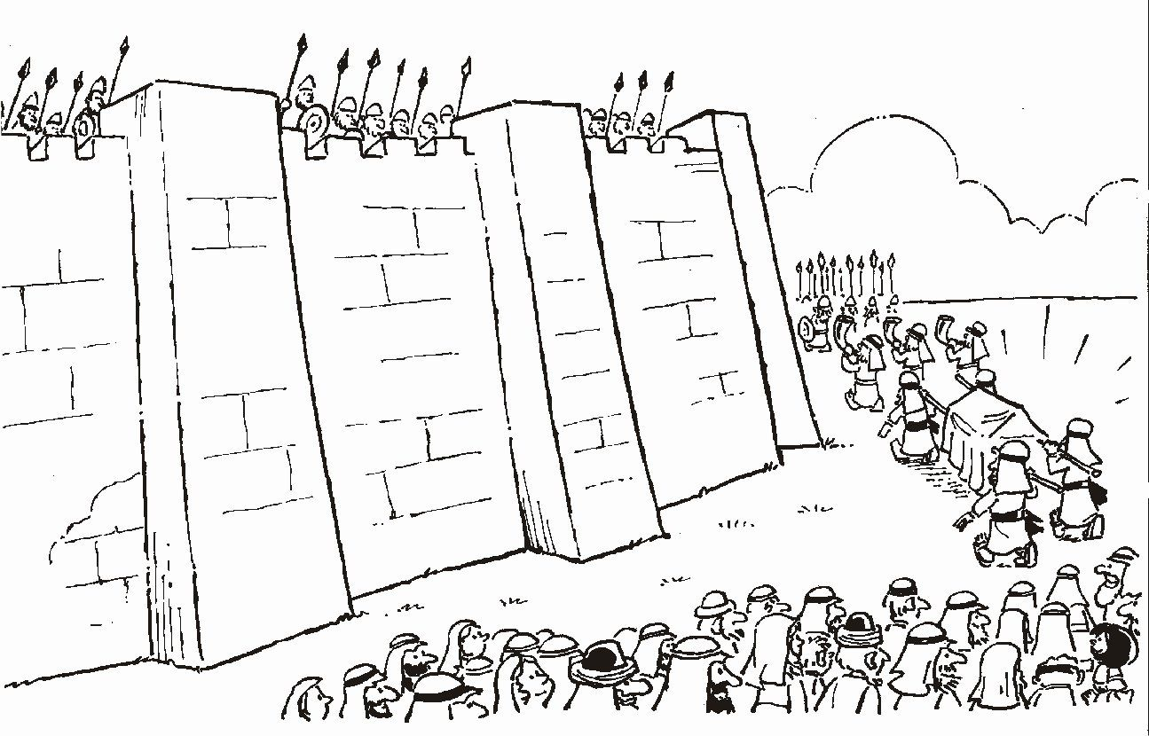 Walls Of Jericho Coloring Page Luxury 1000 Images About Joshua And The Battle Of Jericho On Sunday School Coloring Pages Bible Coloring Pages Walls Of Jericho