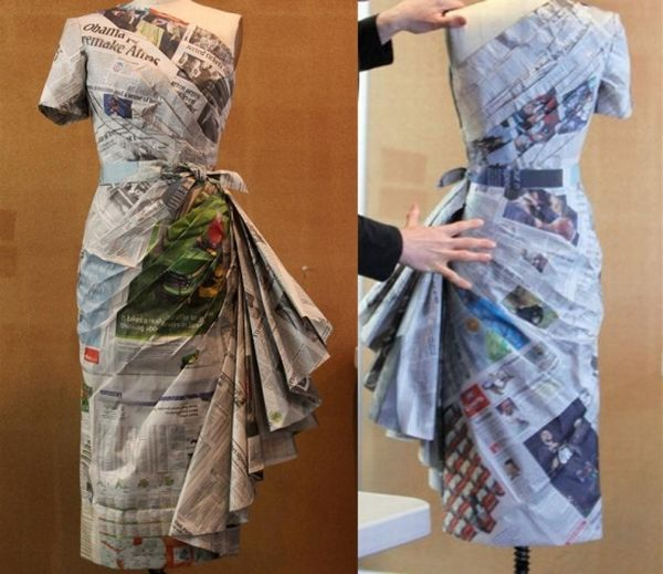Newspaper Dresses By Designer Isaac Mizrahi Cut And Sew Fashion Reality Show