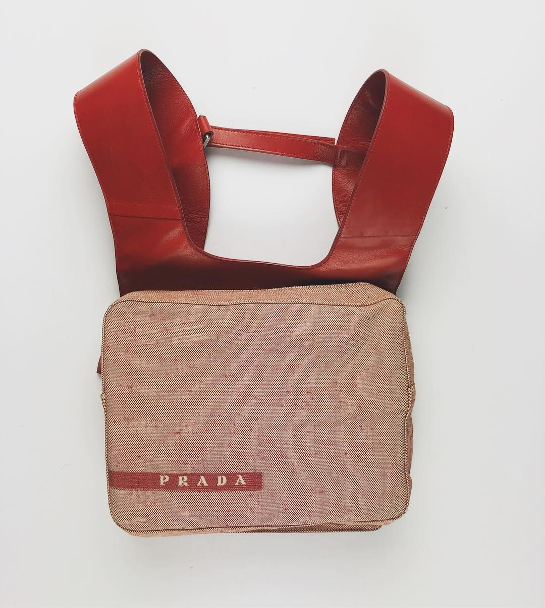 a393a7865c49 Prada Chest Rig/Backpack Circa 1999 (Red) | StolenBeauty in 2019 ...