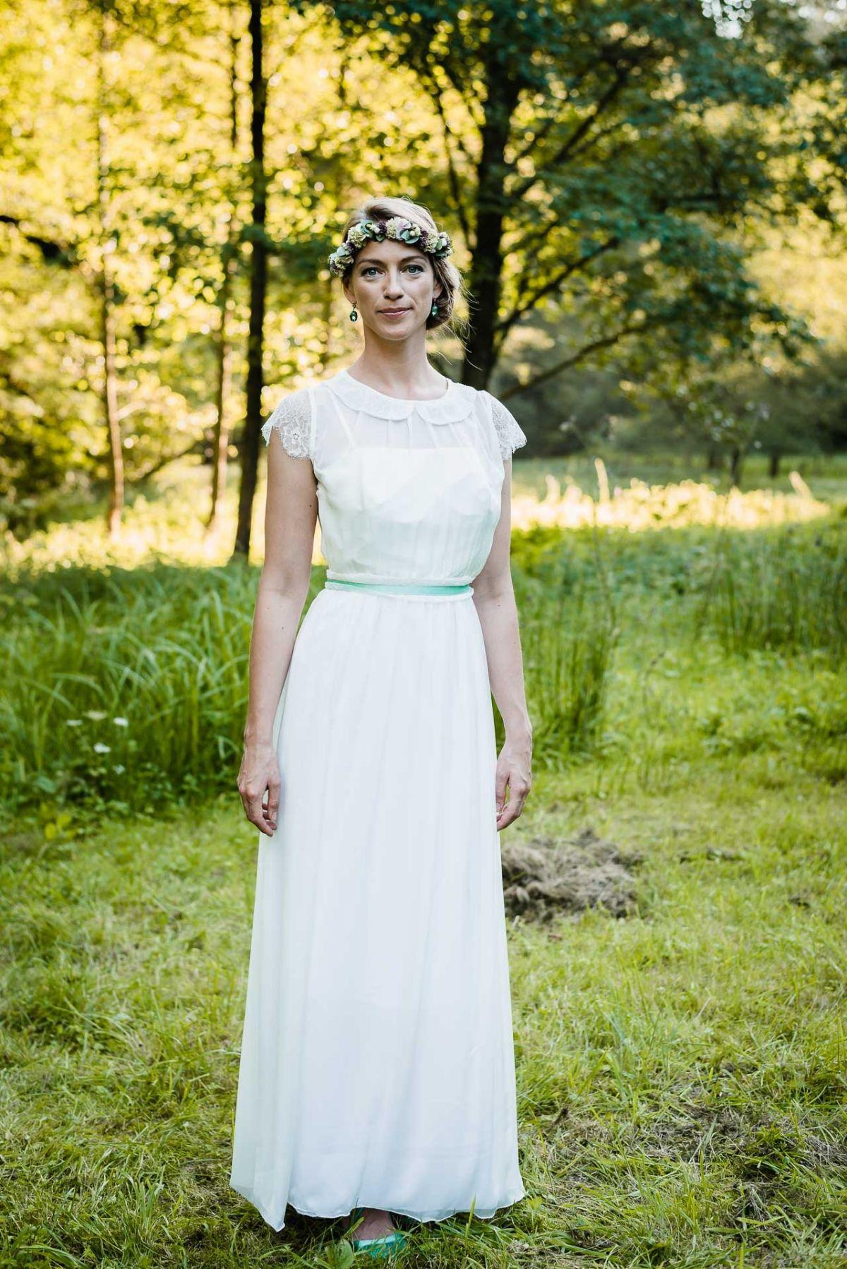 Brautkleid im 60er Jahre Stil: Hochzeitskleid \