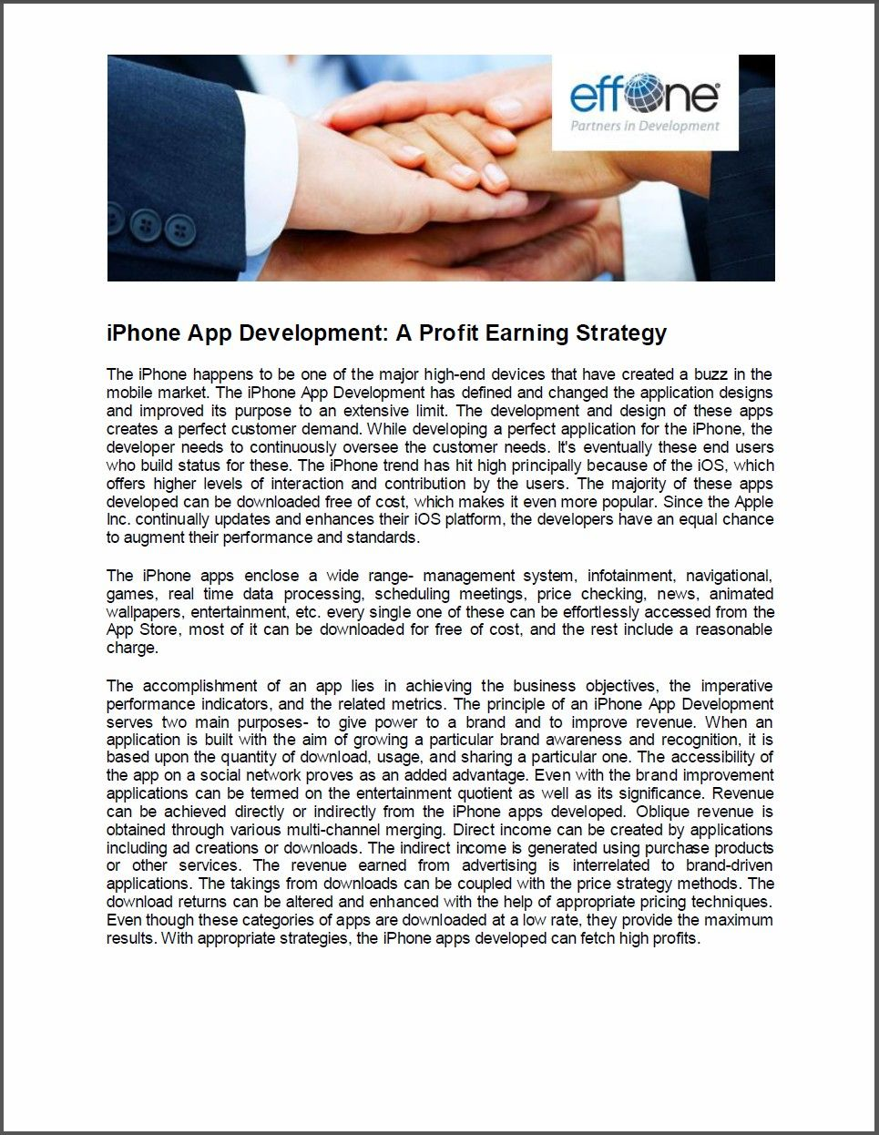 iPhone App Development - A Profit Earning Strategy