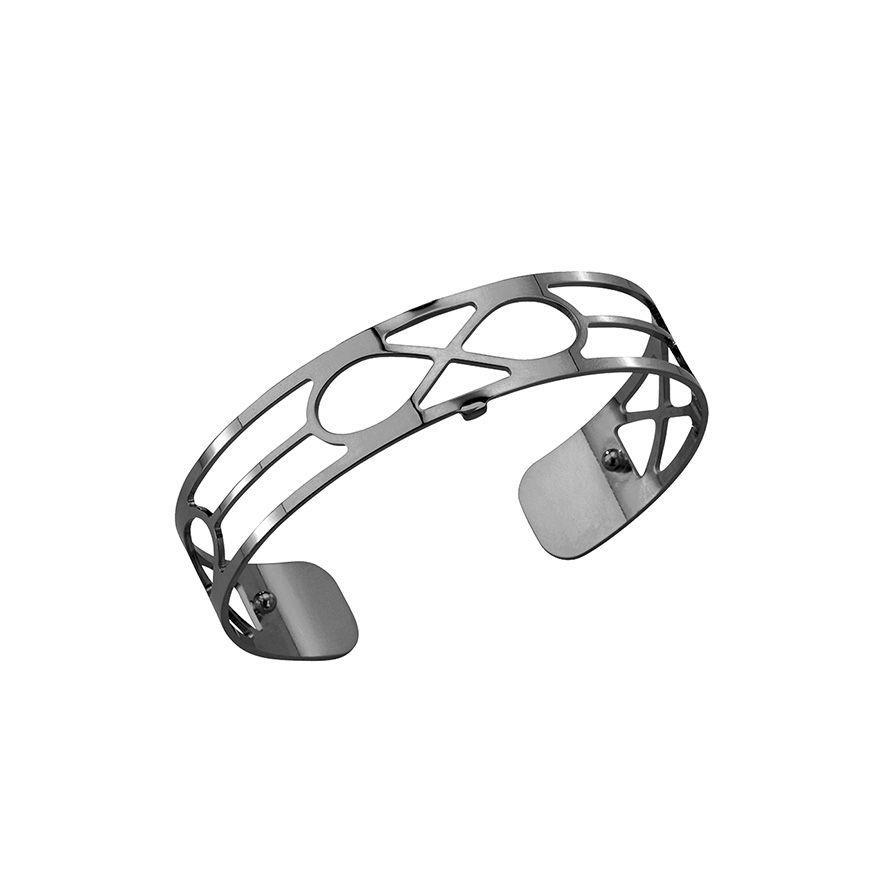 grande sélection personnalisé nouvelle qualité Bracelet jonc Les Georgettes Infini Small finition Ruthenium ...