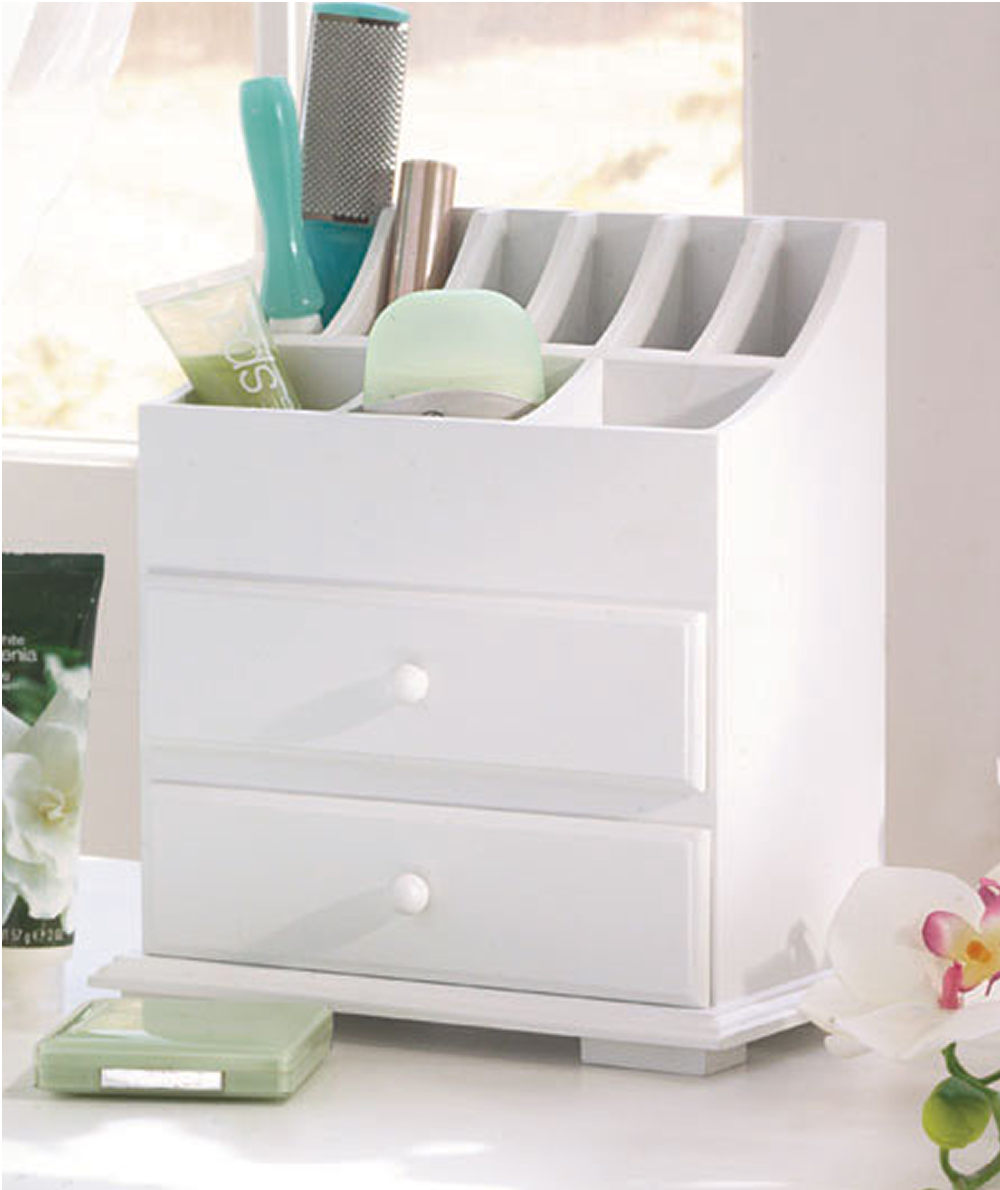 2Drawer Wooden Beauty Organizer Desk with drawers, Home