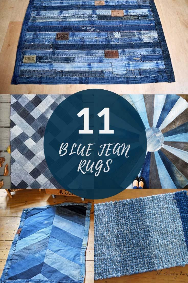 How To Make A Blue Jean Rug 12 Unique Ways In 2020 Blue Jean Rug Denim Rag Rugs Blue Jeans Crafts