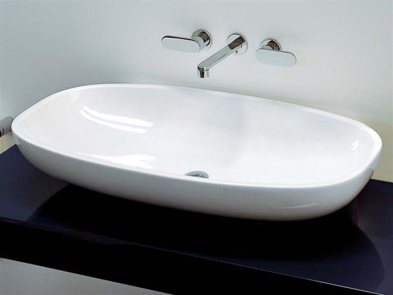 Lavabo in ceramica NUDA 95 Collezione NUDA by Ceramica FLAMINIA | design Ludovica+Roberto Palomba