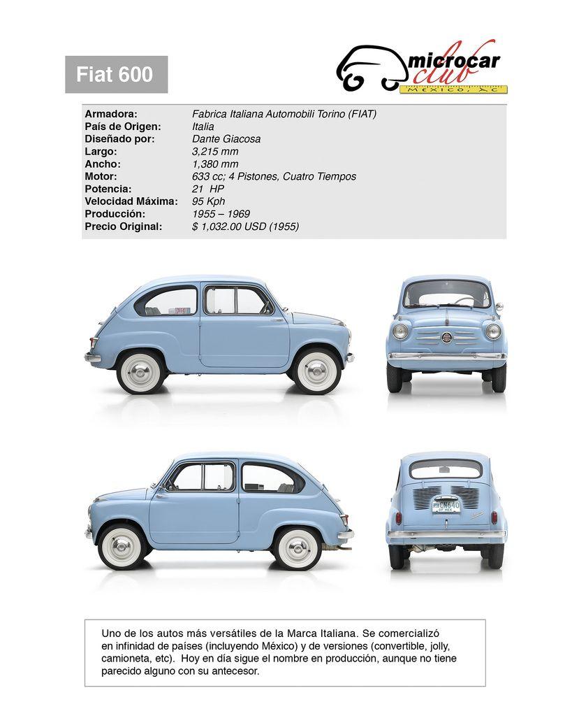 Fiat 600 1955 Fiat 600 Primer Coche Coches Clasicos
