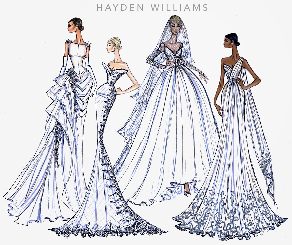 Hayden Williams Fashion Illustrations: Bridal Couture 2014 collection by Hayden Williams