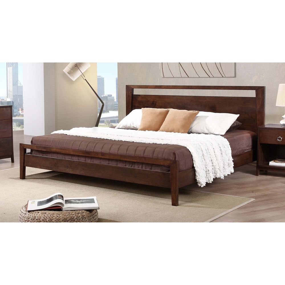 Overstock Bedroom Furniture Kota King Size Platform Bed Kota King Platform Bed Brown King