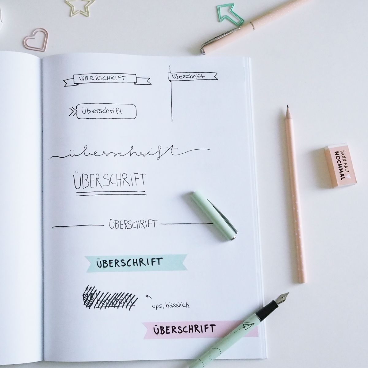 Tipps und ideen f r eine kreative heftgestaltung bujo pinterest journal ideen berschrift - Fotoalbum dekorieren ...