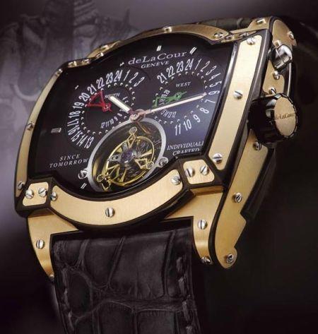 The Iridium Sagra Triplex Watch by Delacour.... Slap it on my wrist anytime!!! #LOVEIT