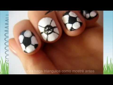 How to Paint your nails like soccer balls for the World ...