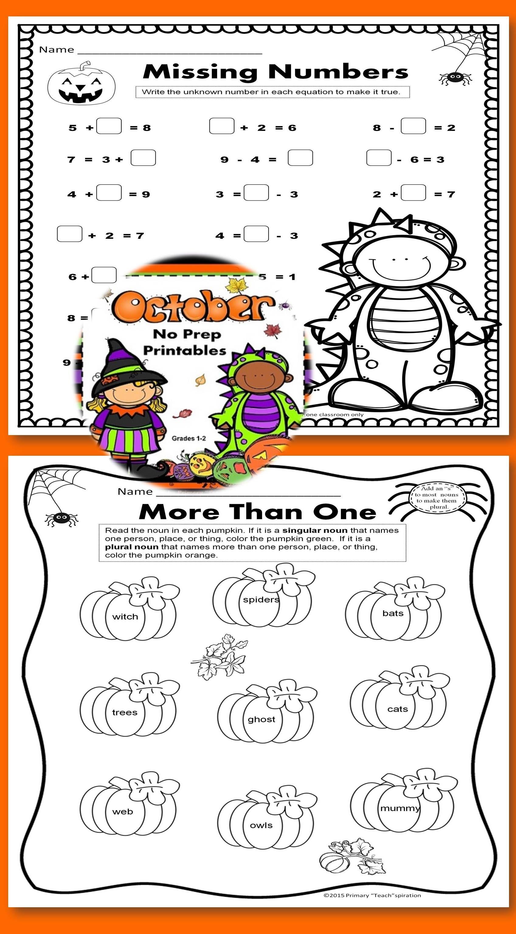 October Math Ela Worksheets And Distance Learning Digital Activities 1st 2nd October Math Math Fall Math [ 3072 x 1697 Pixel ]
