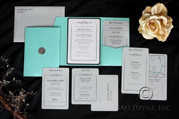 Custom Pocketfold Wedding Invitation With Inserts By Sao Dzynz Inc