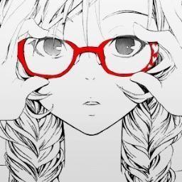 ٩ ๑ ๑ ۶ Glasses Girl イラスト 絵 かわいい