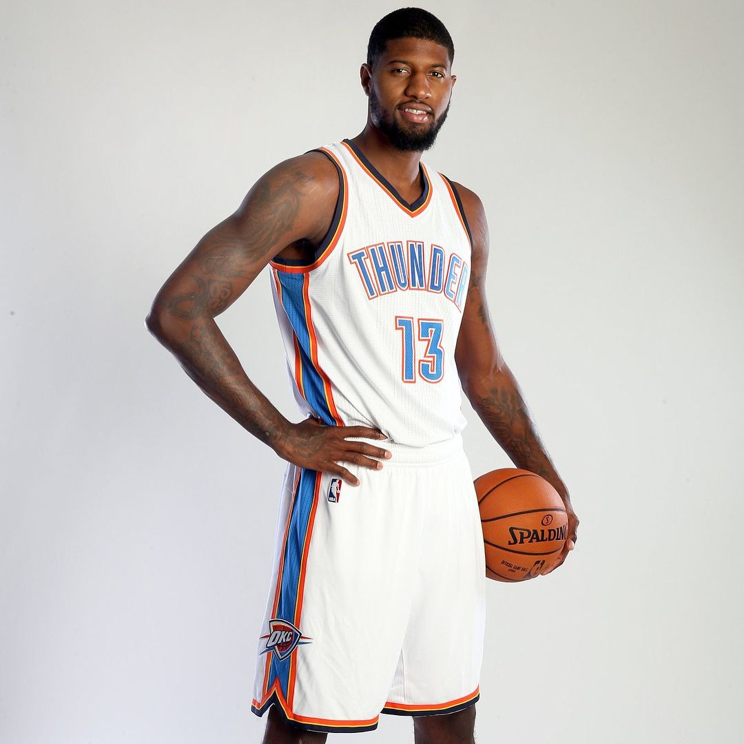 James Harden And Paul George: Paul George In His New OKC Thunder Jersey! What Do You