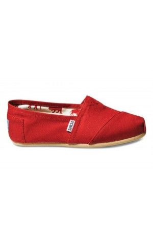 69268f43417 Toms Red Canvas Women s Classics Shoes Sale