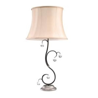 We Love this Elstead - 60W Lunetta Black / Silver Table Lamp