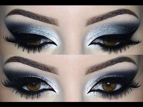 Look INTENSO, labios rojos y ojos ahumados - YouTube Maquillaje