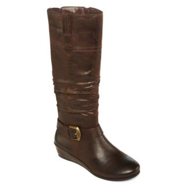 04d1e1032106 Yuu™ Simona Wedge Buckled Womens Boots found at  JCPenney