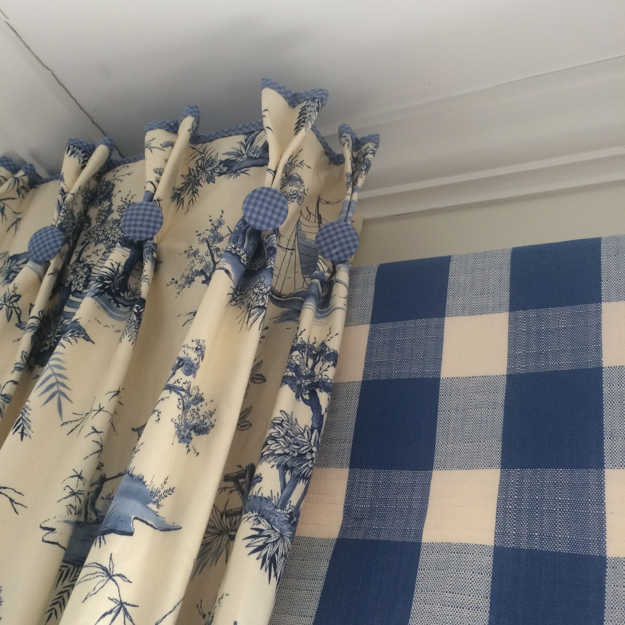 Checks And Toile Together Again French Country My