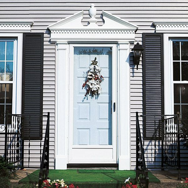 Pediment set door surround. Manufactured by Mastic Home Exteriors. For more photos please visit & Pediment set door surround. Manufactured by Mastic Home Exteriors ... pezcame.com