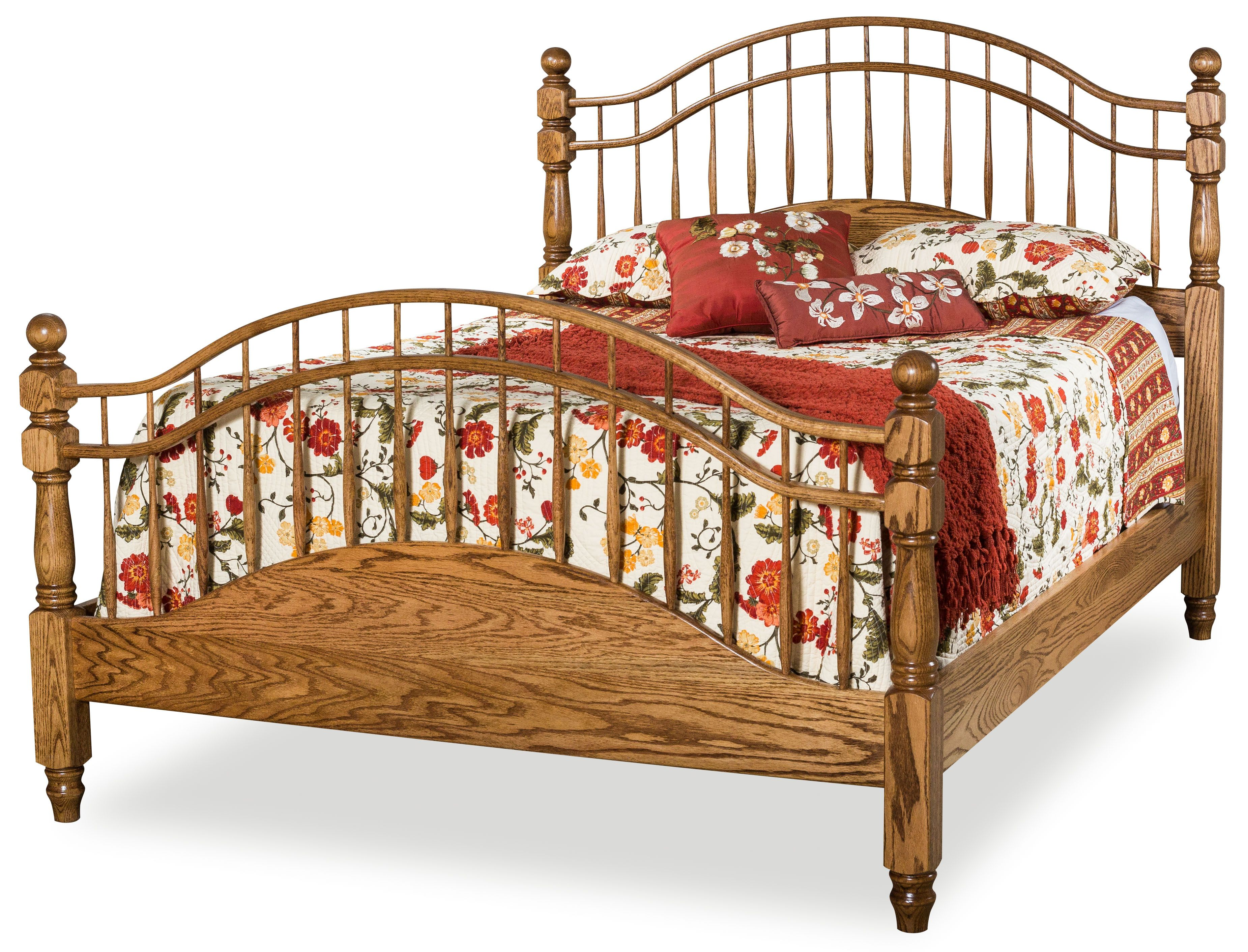 Double Bow Spindle Bed Bedroom Furniture Furniture Bedroom