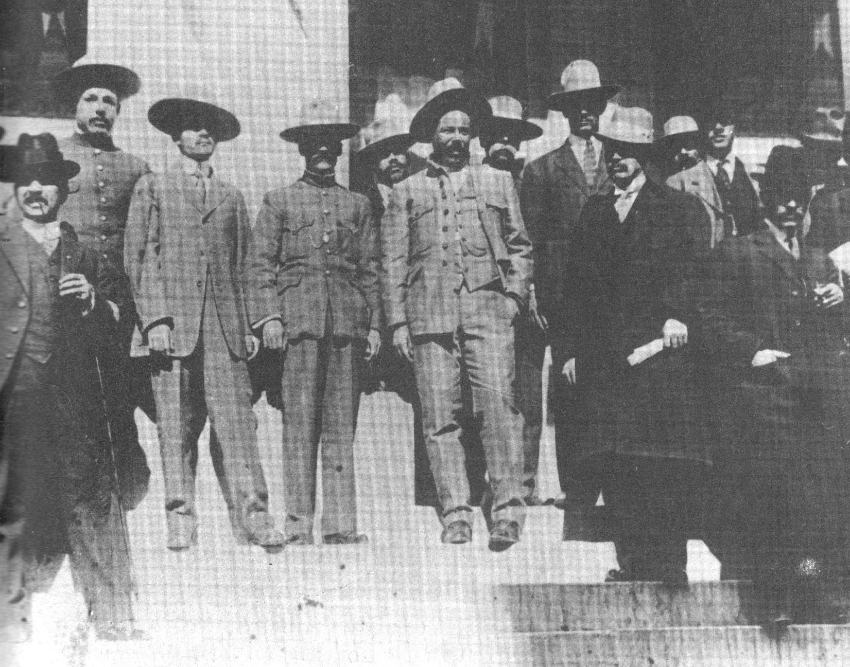 pancho villa and manuel chao to villa s right in chihuahua pancho villa and manuel chao to villa s right in chihuahua