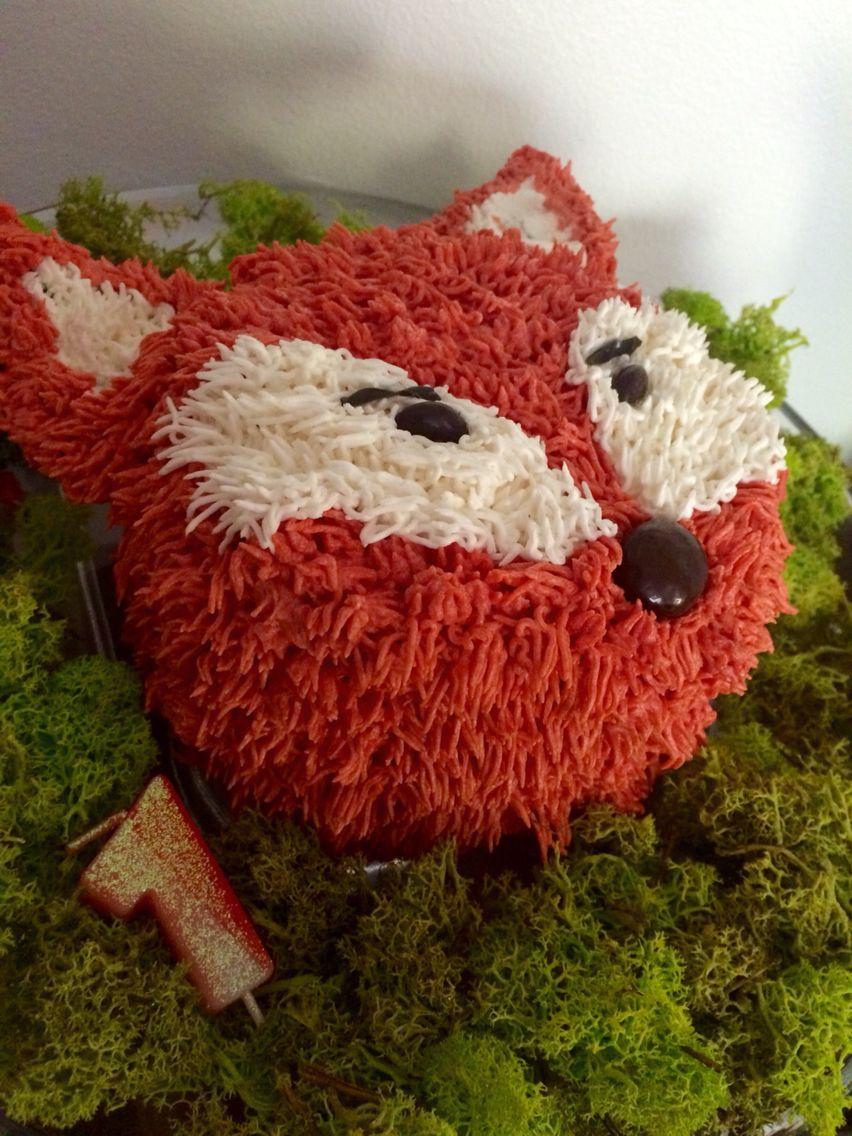 Fox Smash Cake Woodland One Derland Party Fox Cake