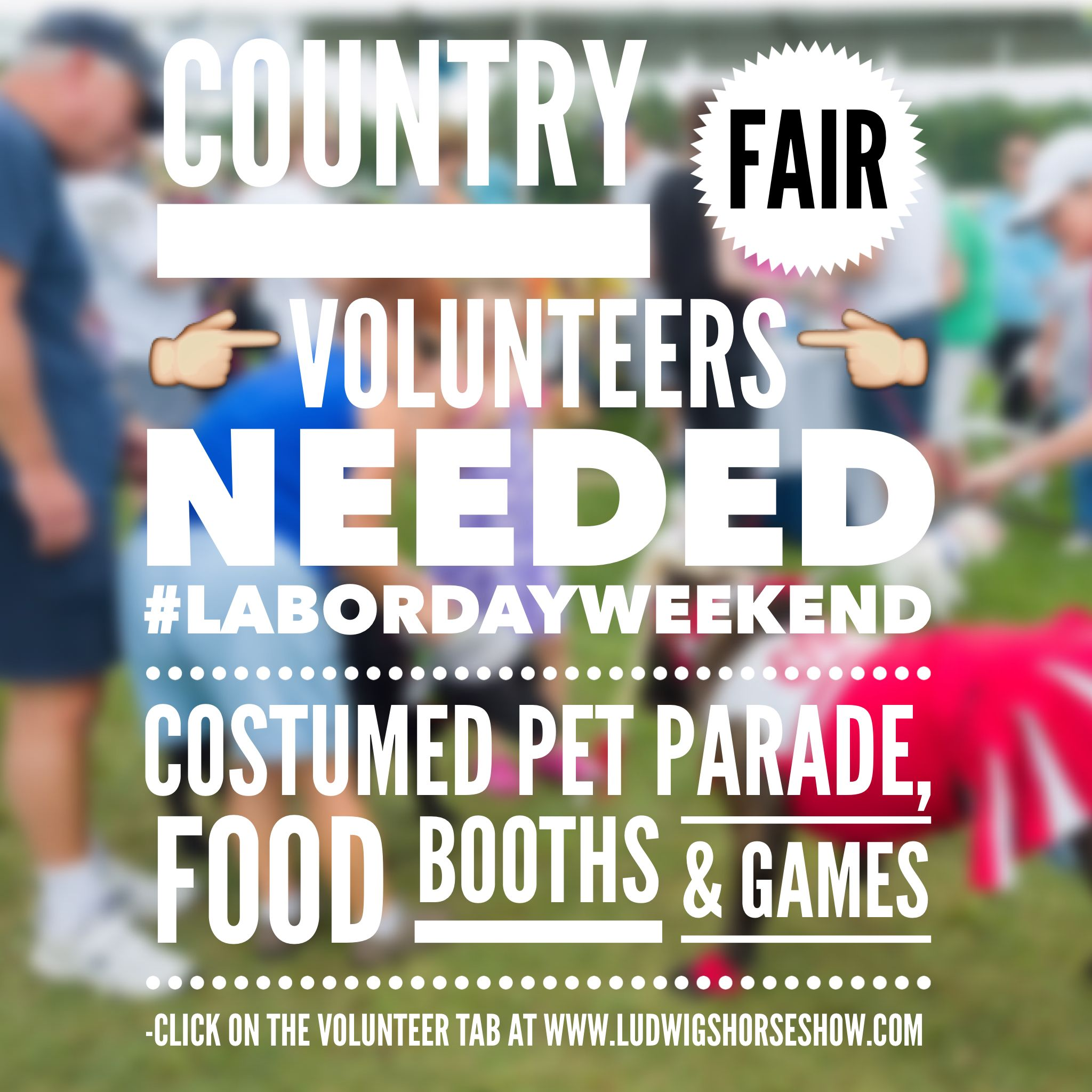 Want To Volunteer At Our Country Fair