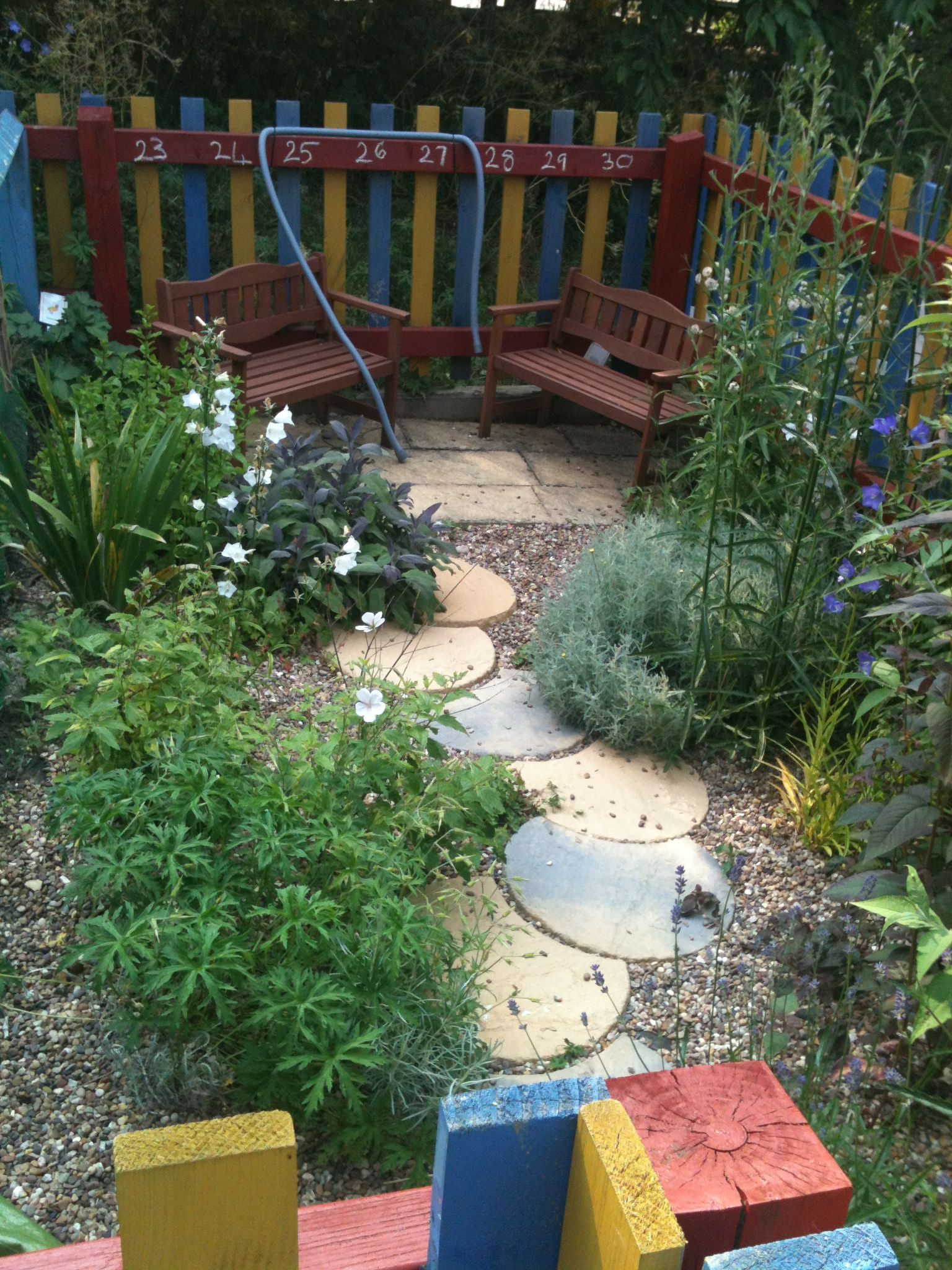 Sensory garden with caterpillar path, benches and speaking ...