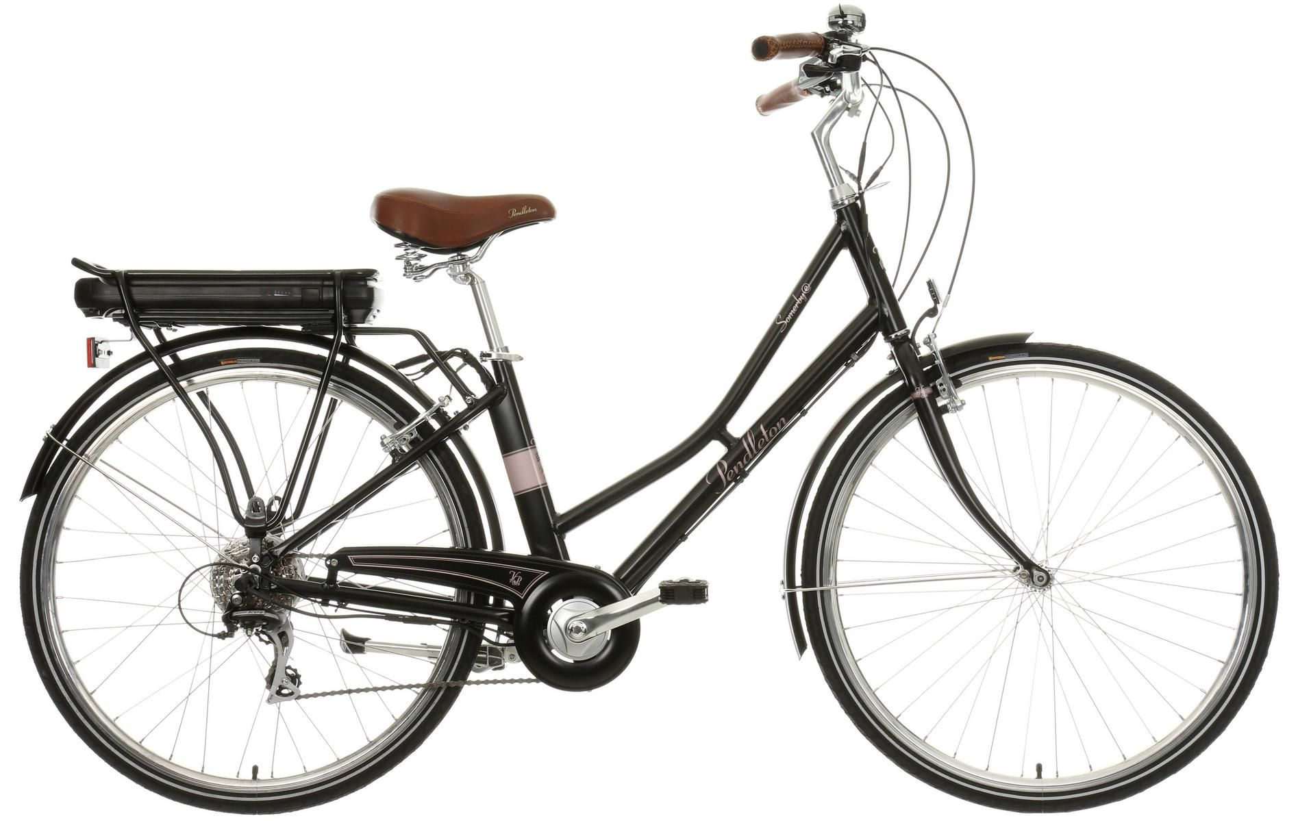 Pendleton Somerby Electric Hybrid Bike Black Rose Gold 17