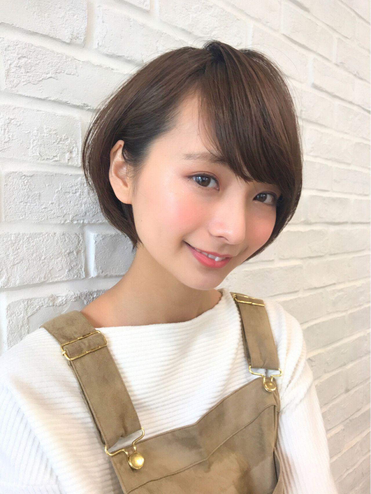 2018 年の「大人可愛いのショートヘアスタイル☆頭の丸みが綺麗に見え