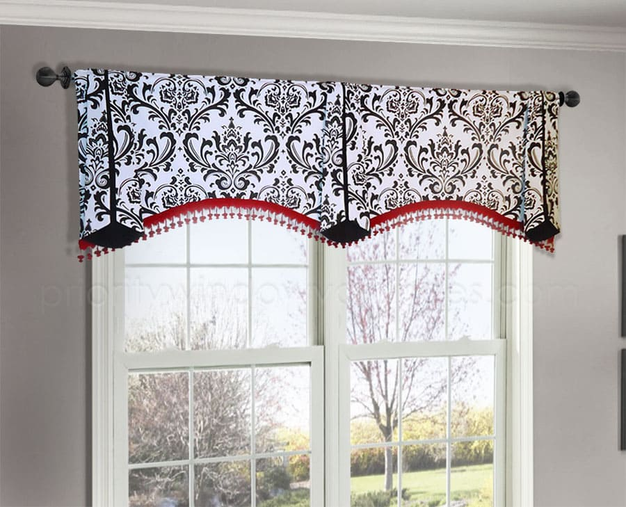 How Much Wider Should A Valance Be Than The Window Custom Window Treatments Valance Window Treatments Kitchen Window Treatments