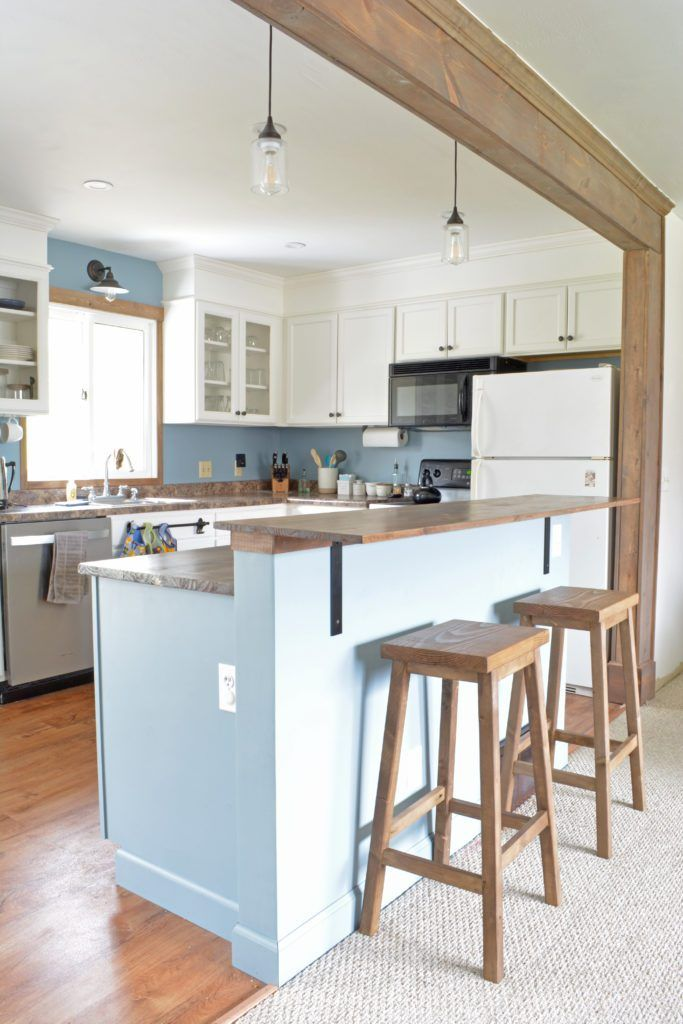 DIY Kitchen Island With Breakfast Bar