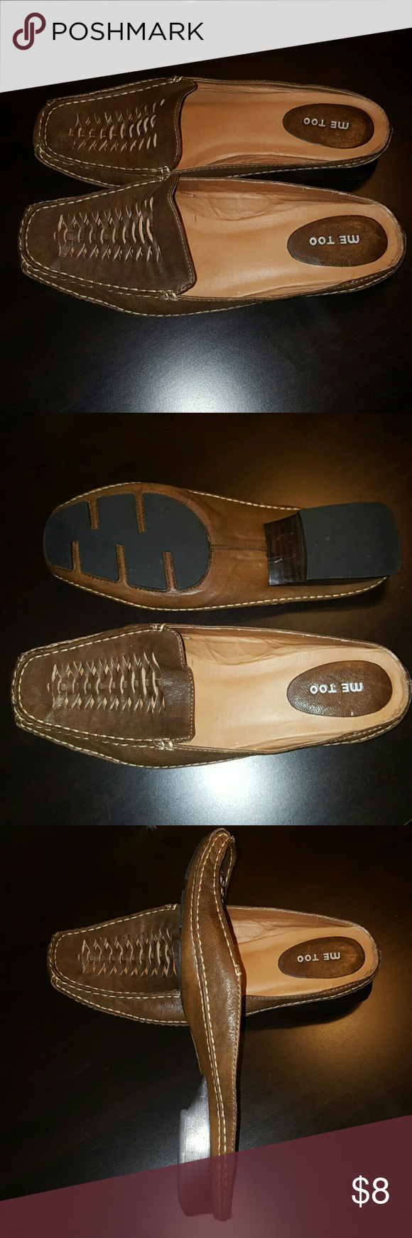 🆕 Brown Moccasin Slide Ons Slide on moccasins with non-slip backing. Very comfy and cute! Me Too Shoes