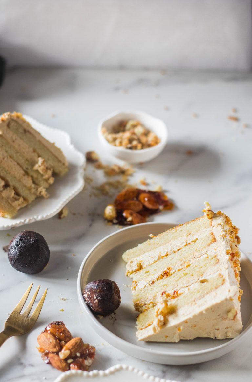 Vanilla Almond Hazelnut Praline Cake Recipe Praline Cake