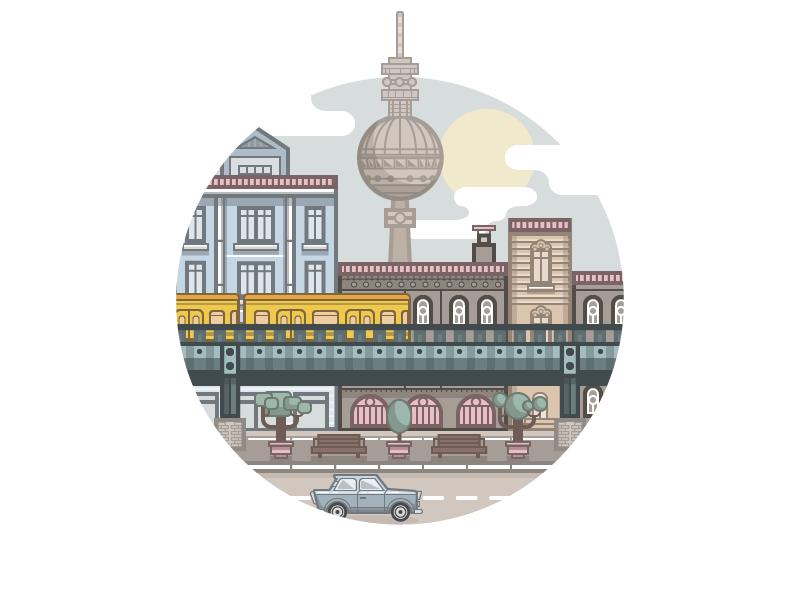 Berlin Berlin Art City Icon Animation